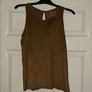 Tops - NWT faux suede tank